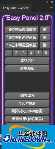 ps亮度蒙版扩展EasyPanel