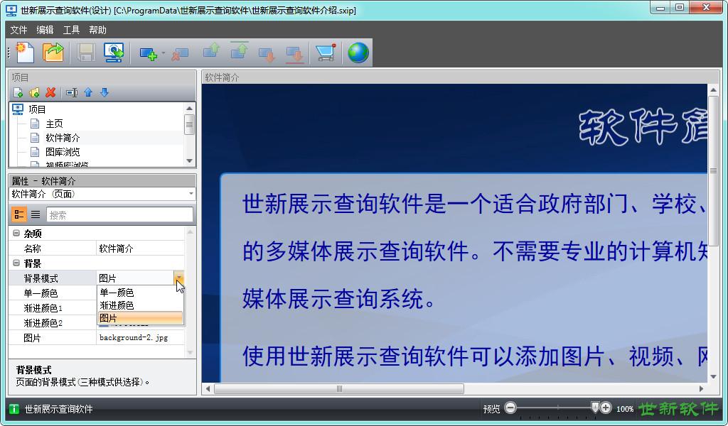 世新展示查询软件