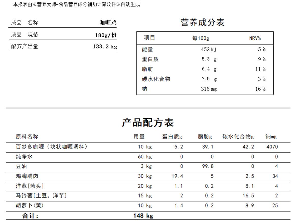 营养大师-食品营养成分辅助计算188bet