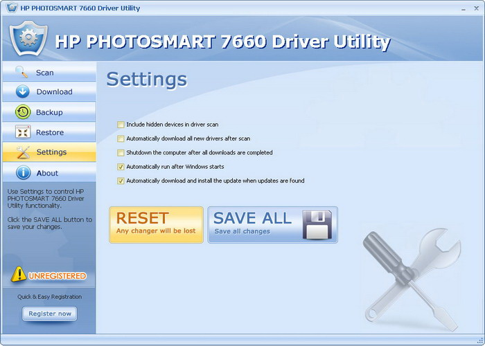 HP PHOTOSMART 7660 Driver Utility