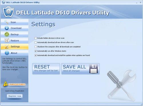 DELL Latitude D610 Drivers Utility