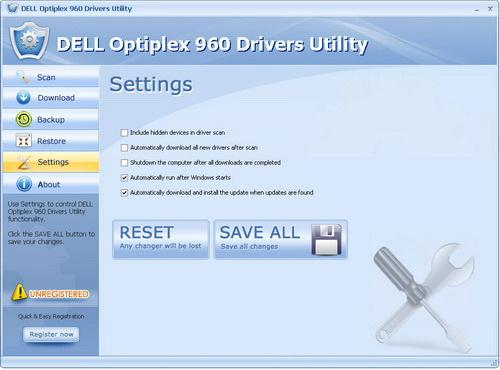 DELL Optiplex 960 Drivers Utility