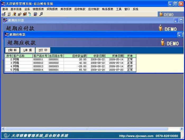 大洋销售管理系统_后台财务管理
