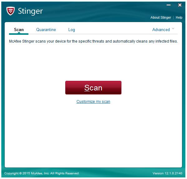 McAfee AVERT Stinger(杀毒软件)