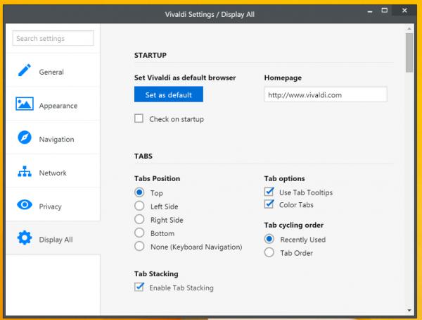 Vivaldi浏览器安装界面