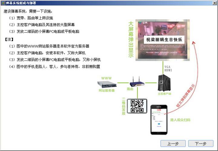 手机发言弹幕系统PC客户端