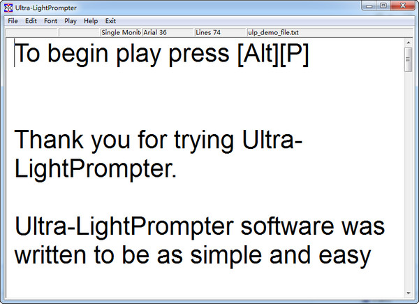 提词器软件Ultra-LightPrompter