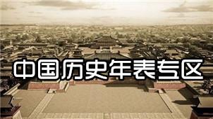 中国历史年表专区