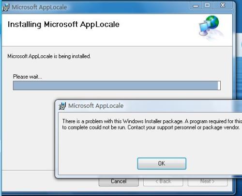 Microsoft AppLocale Utility