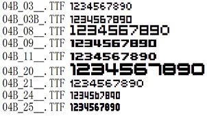数字字体专题