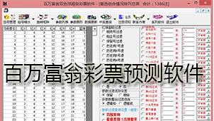 百万富翁彩票预测软件下载