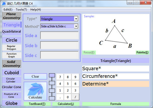 dream7c Geometry Calculator