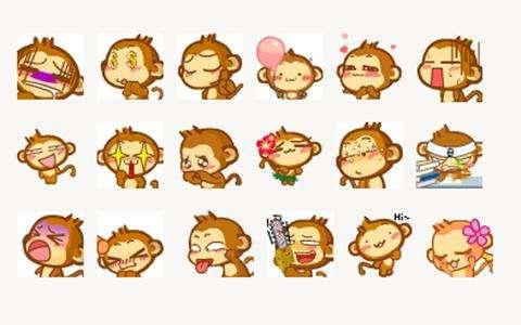 表情猴嘻哈水粉画表情包免费版表情猴手机嘻哈版图片