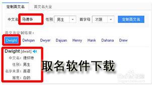 根据中文名取英文名