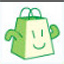 有啊购物袋表情 绿色版