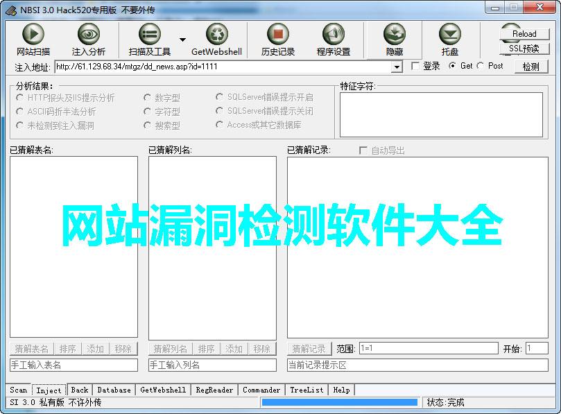 网站漏洞检测软件大全