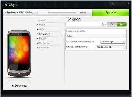 HTC手机HTC Sync同步软件