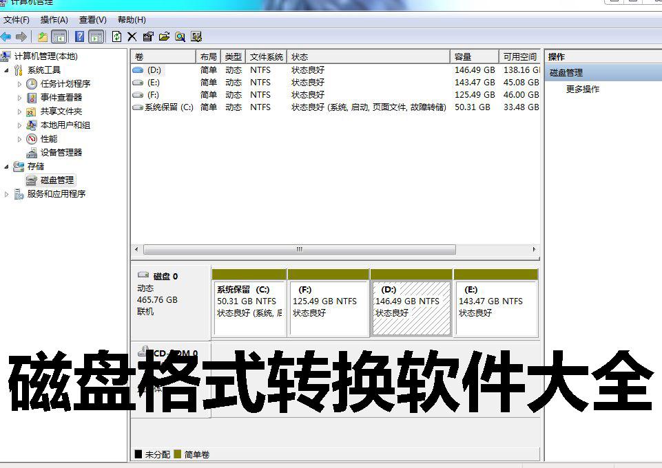 磁盘格式转换软件大全
