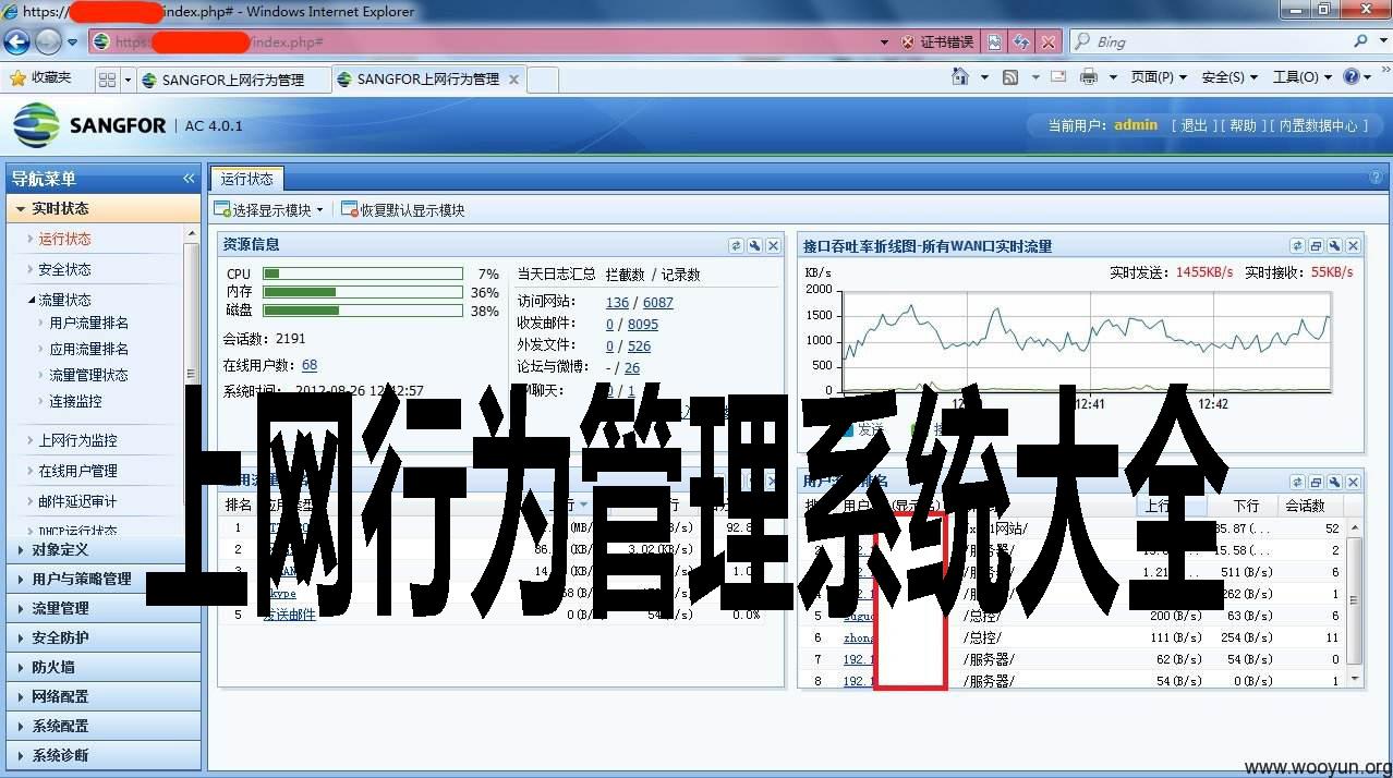 上网行为管理系统