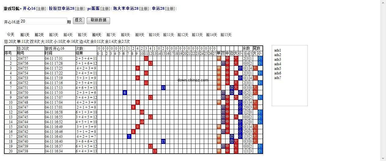 万能自定义采集规则式pc蛋蛋/28/16/12/10游戏走势图