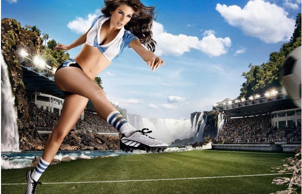 2014巴西世界杯足球宝贝宽屏壁纸