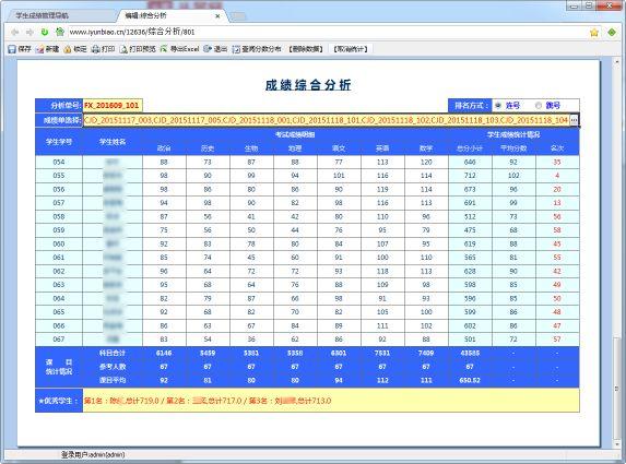 学生成绩管理系统