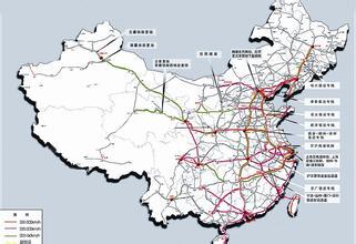 中国高铁线路图...