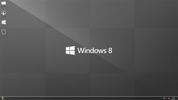 win7仿win8主题(Windows 8 UX Pack)