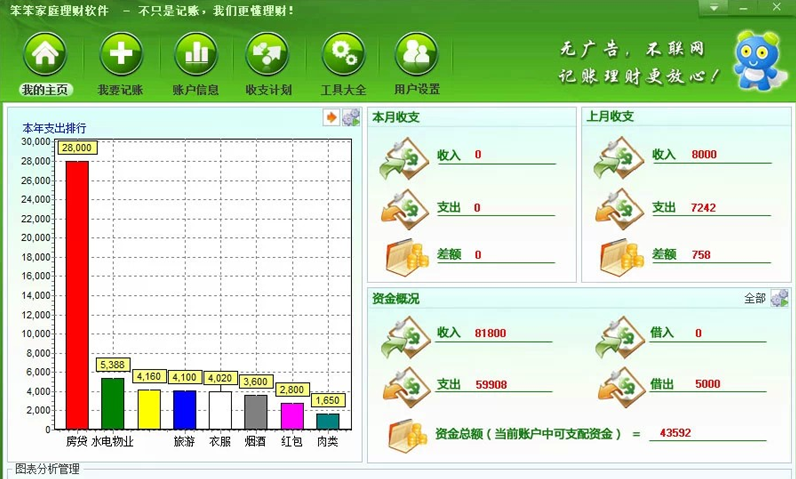 笨笨家庭理财软件[绿色版]