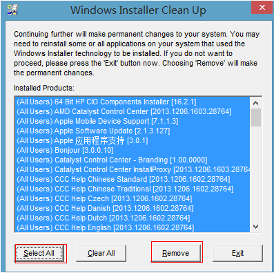 WindowsInstallerCleanUp