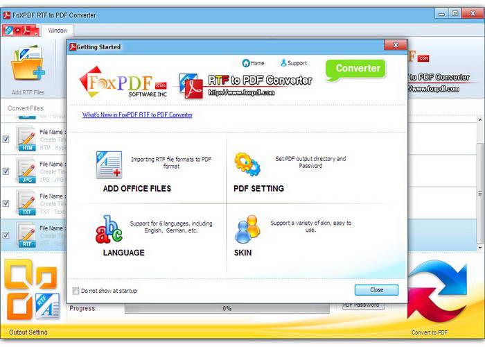 Rtf转换PDF转换器
