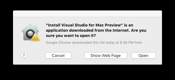 VisualStudio 2019 for Mac