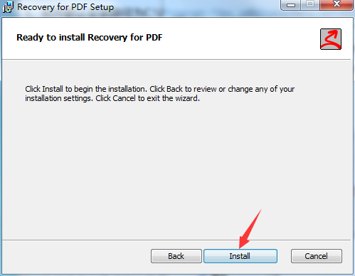 Recovery for PDF