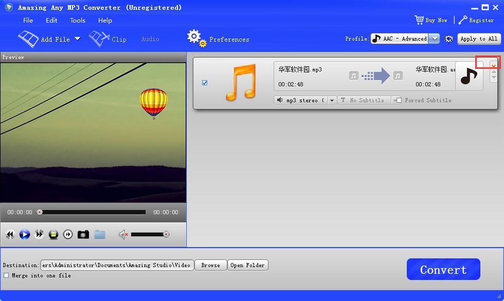 Amazing Any MP3 Converter