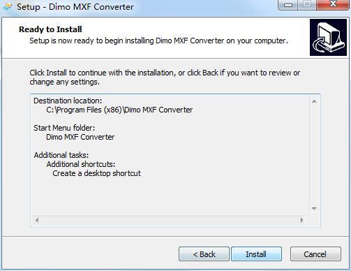 Dimo MXF Converter