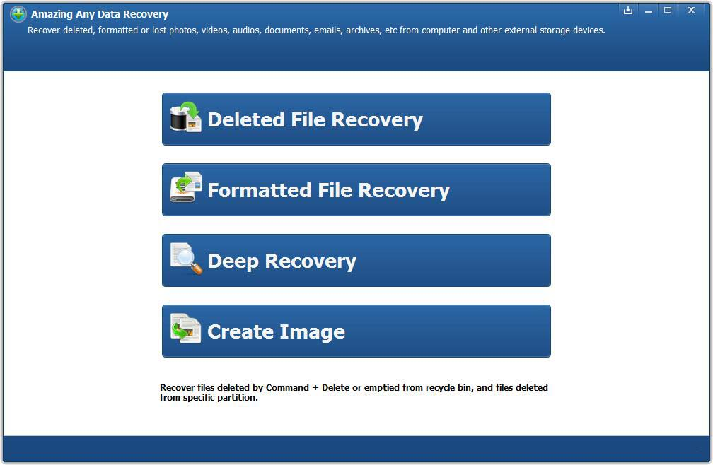 Amazing Any Data Recovery