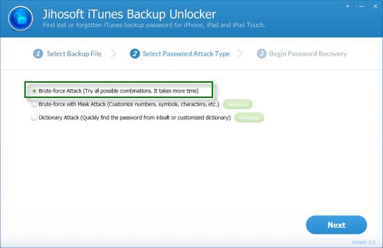 Jihosoft iTunes Backup Unlocker