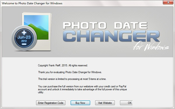 Photo Date Changer