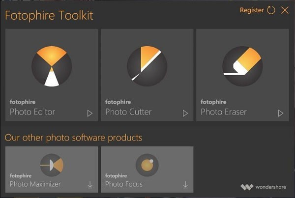 Wondershare Fotophire Toolkit