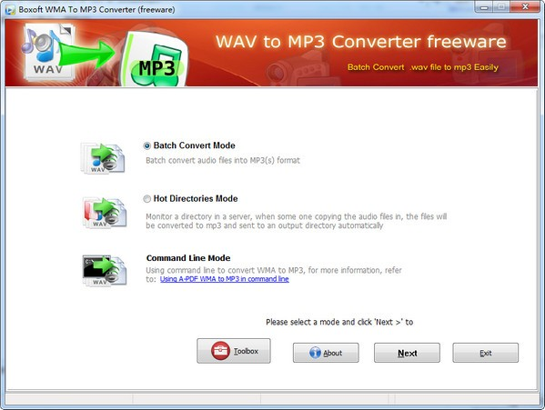 Boxoft WMA to MP3 Converter