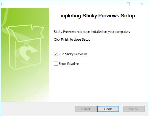 Sticky Previews