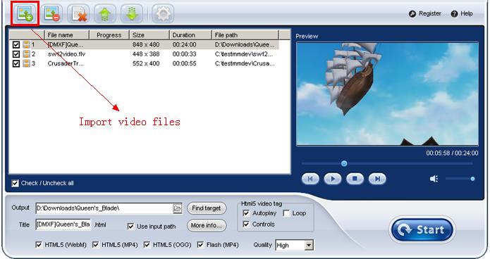 iLike Video to HTML5 Converter