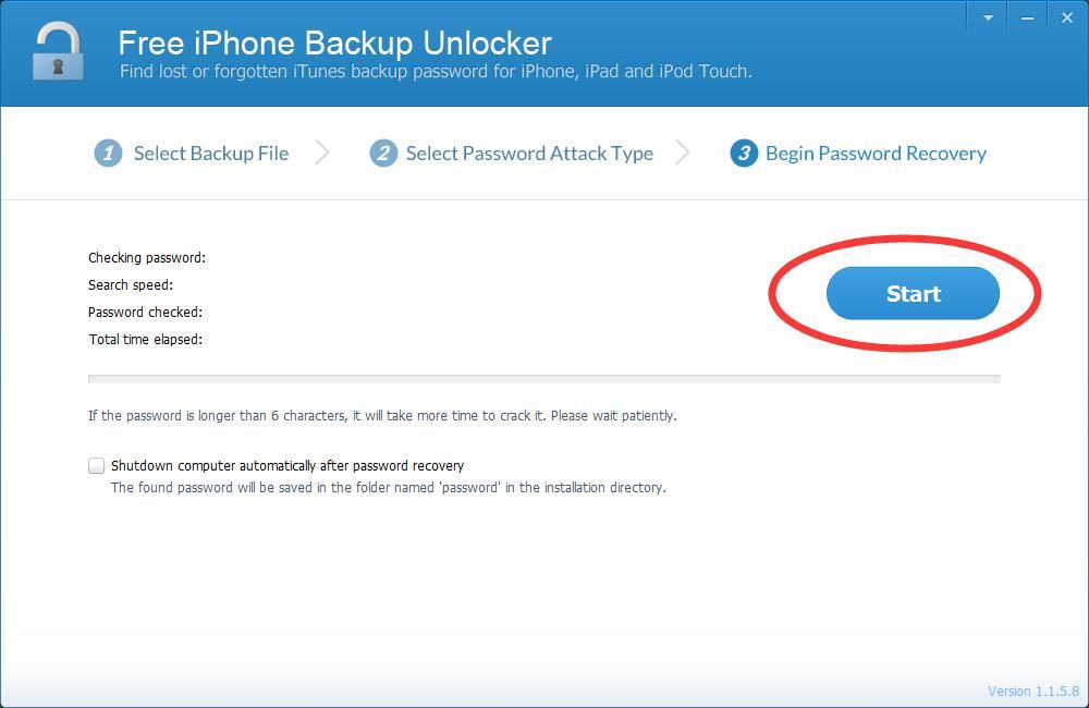 iLike Free iPhone Backup Unlocker