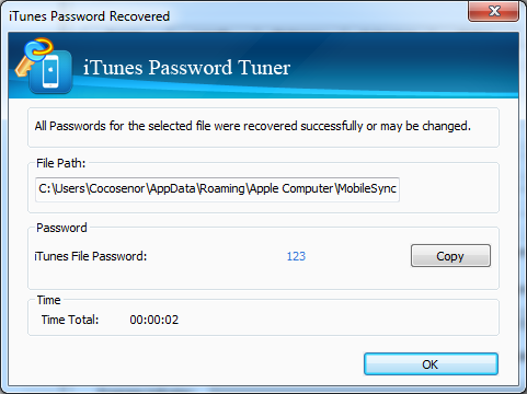 Cocosenor iTunes Password Tuner