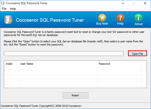 Cocosenor SQL Password Tuner