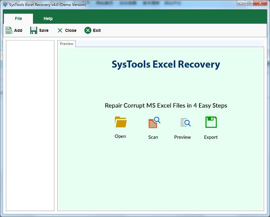 SysTools Excel Recovery
