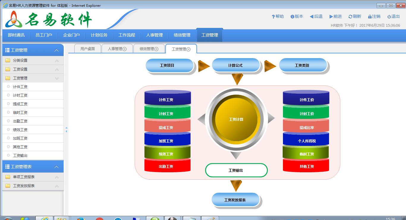 名易HR人力资源管理系统软件