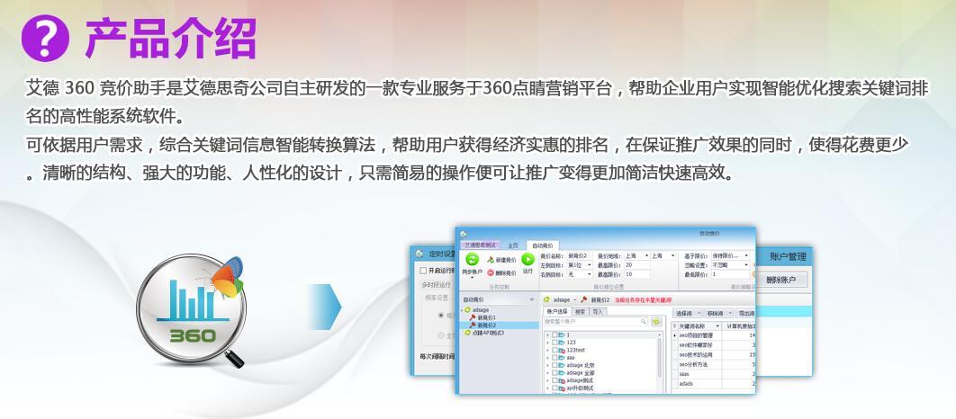 艾德思奇360竞价软件