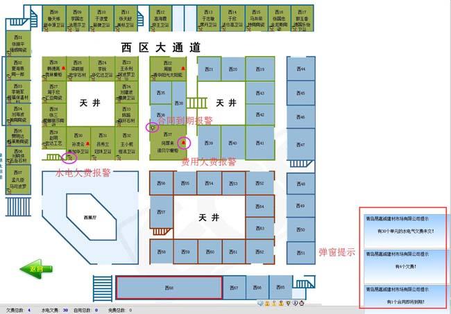 建材市场租赁管理系统(包租婆)