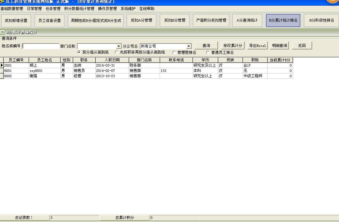 员工积分制管理工作任务管理系统